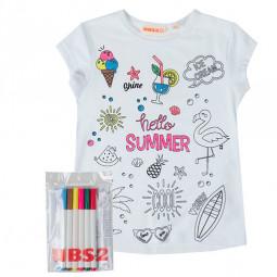 Camiseta niña con rotuladores