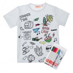 Camiseta niño con rotuladores