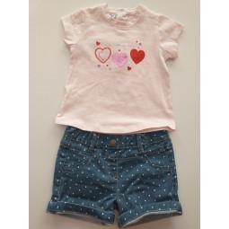 HEART Conjunto short bebé