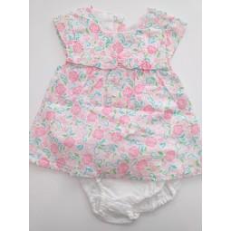 Vestido con culotte bebé niña